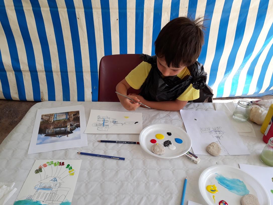 Visite-atelier Art nouveau - La Villa Bluette prend des vacances - Musartdit
