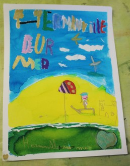 Une Affiche d'Hermanville-sur-Mer façon Art nouveau - Musartdit - Atelier jeune public (1)