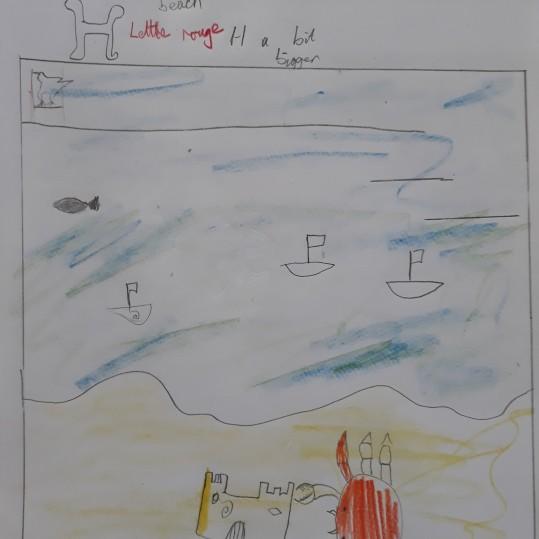 Une Affiche d'Hermanville-sur-Mer façon Art nouveau - Musartdit - Atelier jeune public (11)