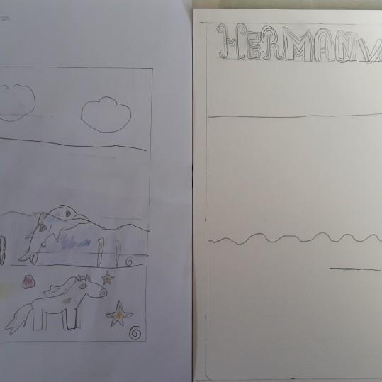 Une Affiche d'Hermanville-sur-Mer façon Art nouveau - Musartdit - Atelier jeune public (13)
