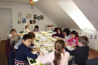 Une Affiche d'Hermanville-sur-Mer façon Art nouveau - Musartdit - Atelier jeune public (22)