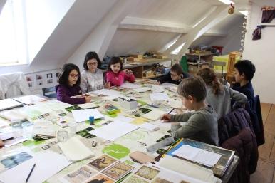 Une Affiche d'Hermanville-sur-Mer façon Art nouveau - Musartdit - Atelier jeune public (23)