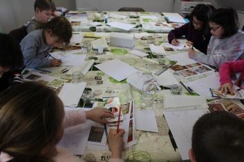 Une Affiche d'Hermanville-sur-Mer façon Art nouveau - Musartdit - Atelier jeune public (26)