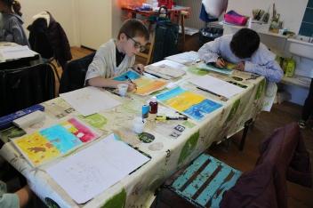 Une Affiche d'Hermanville-sur-Mer façon Art nouveau - Musartdit - Atelier jeune public (29)