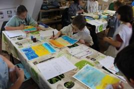 Une Affiche d'Hermanville-sur-Mer façon Art nouveau - Musartdit - Atelier jeune public (32)