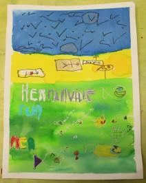 Une Affiche d'Hermanville-sur-Mer façon Art nouveau - Musartdit - Atelier jeune public (47)