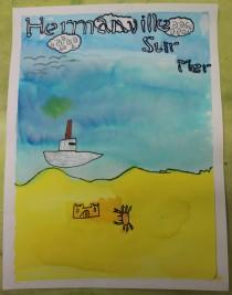 Une Affiche d'Hermanville-sur-Mer façon Art nouveau - Musartdit - Atelier jeune public (48)