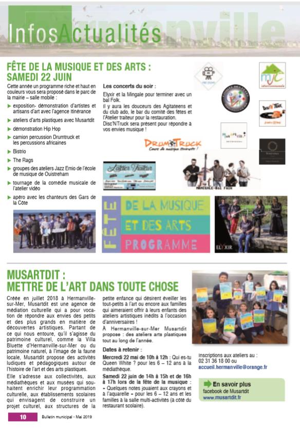 bulletin municipale hermanville sur mer mai 2019