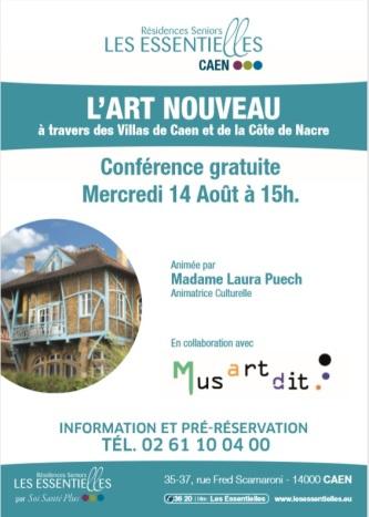 L'art nouveau - conférence senior - Musartdit