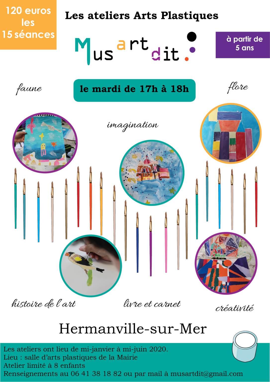 Les ateliers Arts Plastiques - Jeune Public - Musartdit - Caen la mer