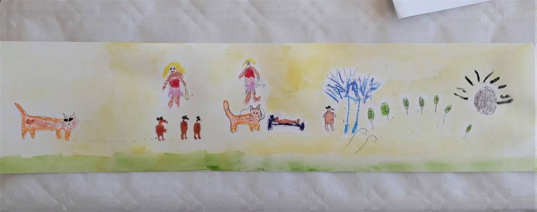 Quelques notes de musique jouaient aux crayons et à l'aquarelle (2)