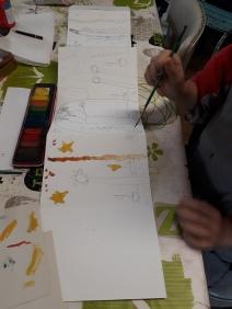 Stage Confection d'un leporello sur le thème de la flore de la côte de nacre - atelier jeune-public - Musartdit (10)