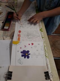 Stage Confection d'un leporello sur le thème de la flore de la côte de nacre - atelier jeune-public - Musartdit (14)