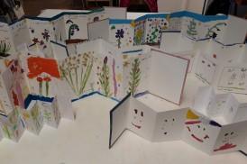 Stage Confection d'un leporello sur le thème de la flore de la côte de nacre - atelier jeune-public - Musartdit (24)