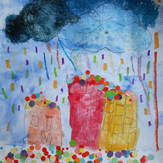 Une pluie de confettis - atelier parent-enfant - Caen -Musartdit (7)