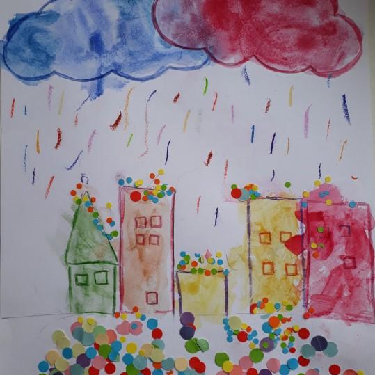 Une pluie de confettis - atelier parent-enfant - Caen -Musartdit (8)