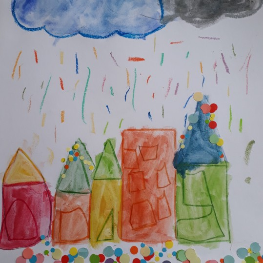 Une pluie de confettis - atelier parent-enfant - Caen -Musartdit (9)